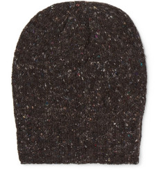 Anderson & Sheppard Ribbed Donegal Mélange Wool and Cashmere-Blend Beanie