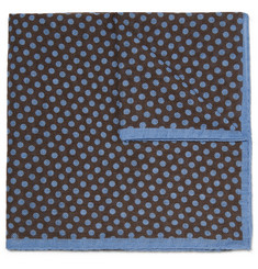 Anderson & Sheppard Polka-Dot Wool Pocket Square