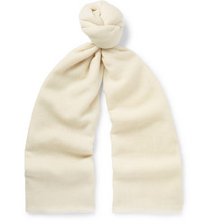 Anderson & Sheppard - Fringed Cashmere-Twill Scarf