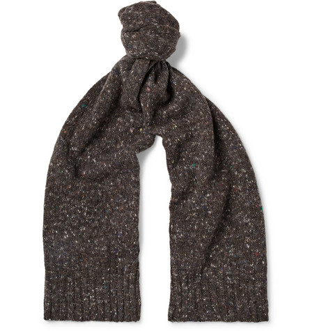 Anderson & Sheppard – Donegal Virgin Wool And Cashmere-blend Scarf – Brown