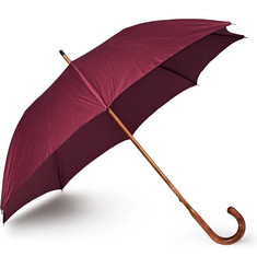 Anderson & Sheppard Cotton-Twill Maple Wood-Handle Umbrella
