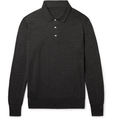 Anderson & Sheppard Knitted Wool Polo Shirt