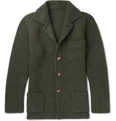 Anderson & Sheppard - Slim-Fit Textured Wool and Cashmere-Blend Cardigan
