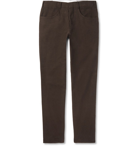 Slim-fit Cotton-moleskin Trousers Anderson & Sheppard 8QoJw