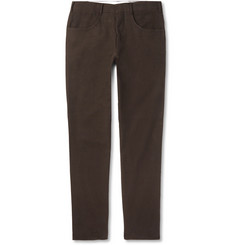 Anderson & Sheppard Slim-Fit Cotton-Moleskin Trousers