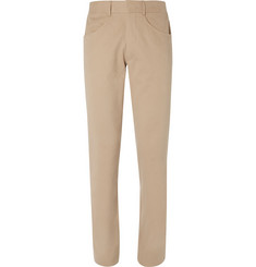 Anderson & Sheppard Brushed-Cotton Twill Trousers