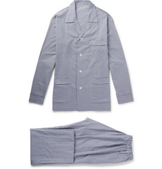Anderson & Sheppard - Gingham Brushed-Cotton Pyjama Set