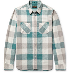Beams Plus - Slim-Fit Checked Linen and Cotton-Blend Shirt