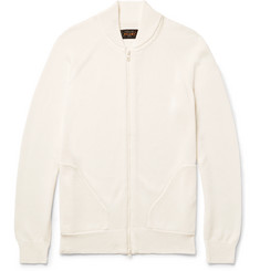 Beams Plus Cotton Zip-Up Cardigan