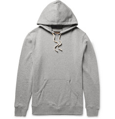 Beams Plus Mélange Loopback Cotton-Jersey Hoodie