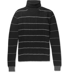 McQ Alexander McQueen Striped Wool and Cashmere-Blend Rollneck Sweater