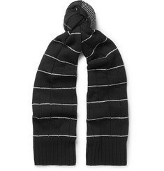 McQ Alexander McQueen Striped Textured Wool and Cashmere-Blend Scarf