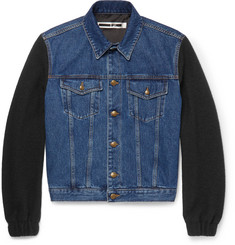 McQ Alexander McQueen - Wool Bouclé-Panelled Denim Jacket