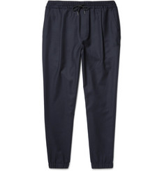 McQ Alexander McQueen - Tapered Stretch-Wool Felt Drawstring Trousers
