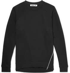McQ Alexander McQueen Zip-Detailed Loopback Cotton-Jersey Sweatshirt