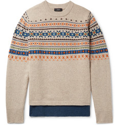 Joseph Fair Isle Wool Sweater