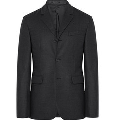 Jil Sander Charcoal Slim-Fit Stretch-Wool Flannel Blazer