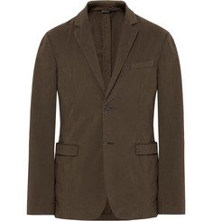 Jil Sander Brown Slim-Fit Stretch-Cotton Twill Blazer