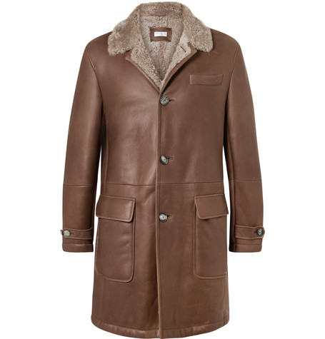 Shearling Coat - Brown