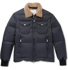 Brunello Cucinelli Shearling-Trimmed Quilted Shell Jacket