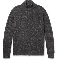 Brunello Cucinelli Cable-Knit Mélange Wool-Blend Zip-Up Cardigan