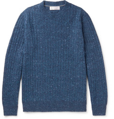 Brunello Cucinelli - Ribbed Mélange Wool-Blend Sweater