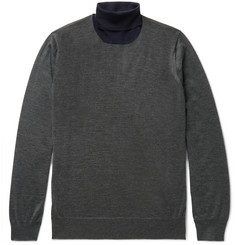 Brunello Cucinelli Cashmere and Silk-Blend Rollneck Sweater