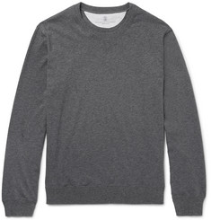 Brunello Cucinelli - Fleece-Back Cotton-Jersey Sweatshirt