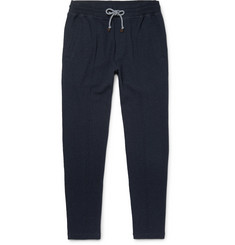 Brunello Cucinelli Slim-Fit Tapered Fleece-Back Cotton-Blend Jersey Sweatpants