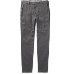 Brunello Cucinelli Garment-Dyed Stretch-Cotton Twill Trousers