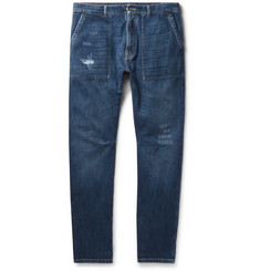 Brunello Cucinelli Slim-Fit Distressed Selvedge Denim Jeans
