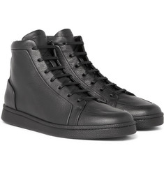 Balenciaga - Urban High Textured-Leather High-Top Sneakers