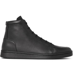 Balenciaga Urban High Textured-Leather High-Top Sneakers