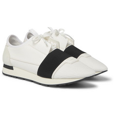 Balenciaga - Race Runner Leather, Neoprene and Mesh Sneakers
