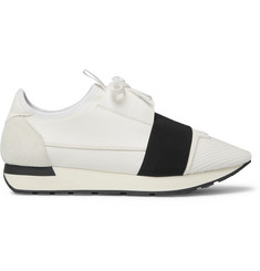 Balenciaga Race Runner Leather, Neoprene and Mesh Sneakers