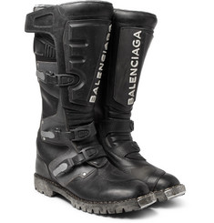 Balenciaga - Leather Motorcycle Boots