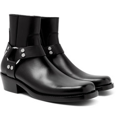 Balenciaga - Leather Harness Boots