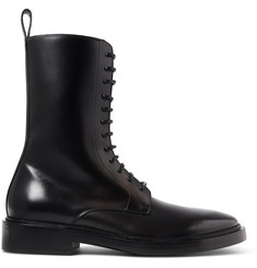 Balenciaga Leather Combat Boots