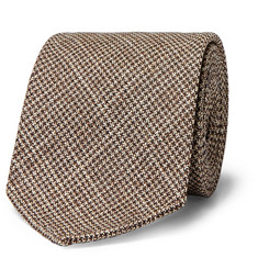 Drake's 8cm Houndstooth Wool and Silk-Blend Tie