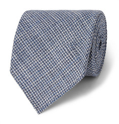 Drake's 8cm Puppytooth Wool and Silk-Blend Tie