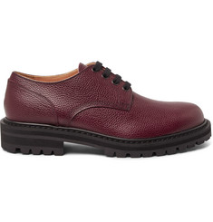 Dries Van Noten Pebble-Grain Leather  Derby Shoes