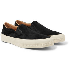 Dries Van Noten - Suede-Trimmed Calf Hair Slip-On Sneakers