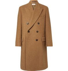 Dries Van Noten Double-Breasted Wool, Alpaca and Mohair-Blend Overcoat
