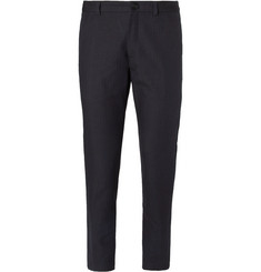 Dries Van Noten - Slim-Fit Pinstriped Cotton and Linen-Blend Suit Trousers