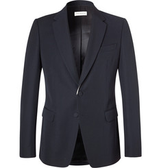 Dries Van Noten Navy Blaine Slim-Fit Wool-Twill Blazer