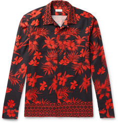 Dries Van Noten Camp-Collar Printed Cotton-Twill Shirt