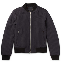 Dries Van Noten Reversible Cotton and Linen-Blend Bomber Jacket