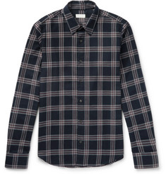 Dries Van Noten Chaines Slim-Fit Checked Brushed Cotton-Twill Shirt