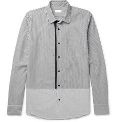 Dries Van Noten Slim-Fit Panelled Striped Cotton-Poplin Shirt