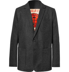 Dries Van Noten Charcoal Slim-Fit Wool-Flannel Blazer